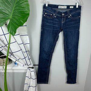 """BKE """"Stella"""" Skinny Jeans Low Rise Blue Size 27"""